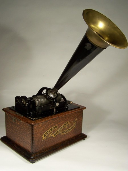 This Edison Standard Phonograph dates from 1905, plays cylinder records, and is typical of the period.  Thousands of these machines still exist today and are avidly collected.