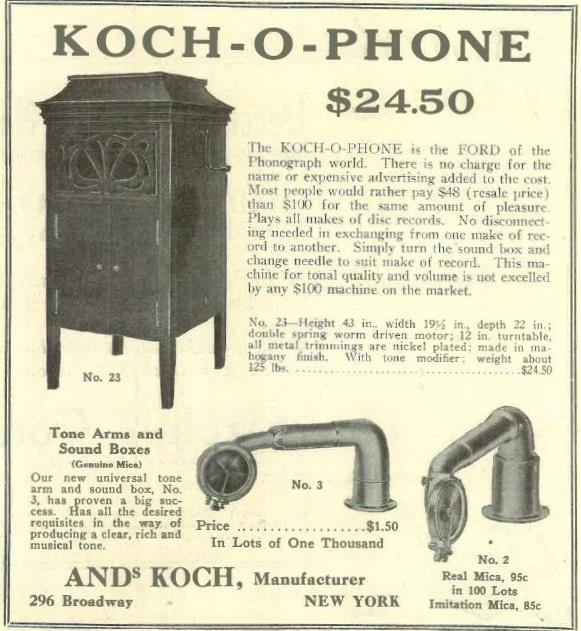 Koch-O-Phone Dec 1917
