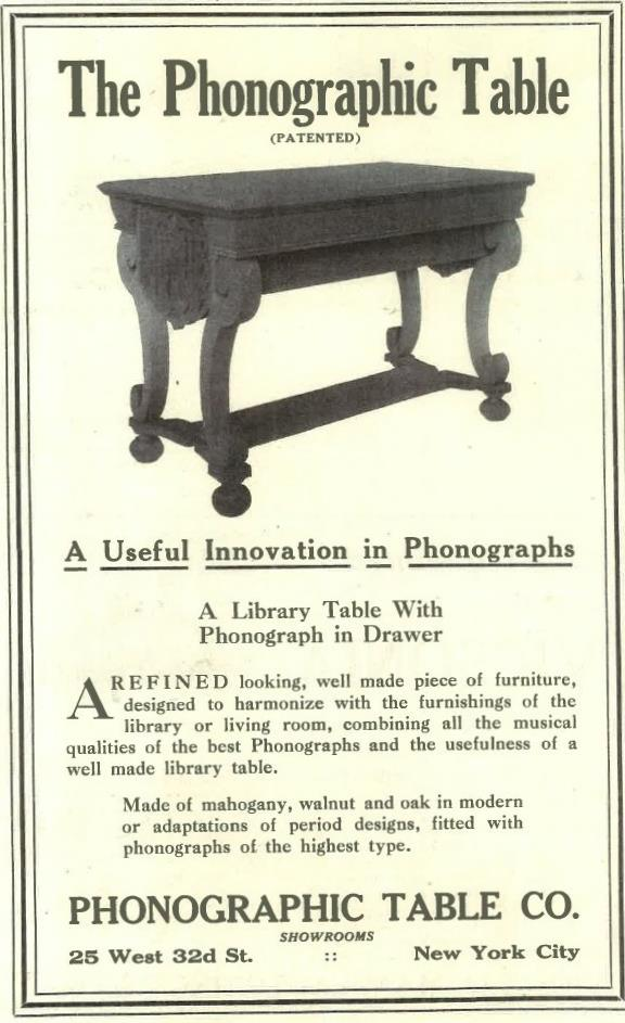 Phonographic Table March 1917