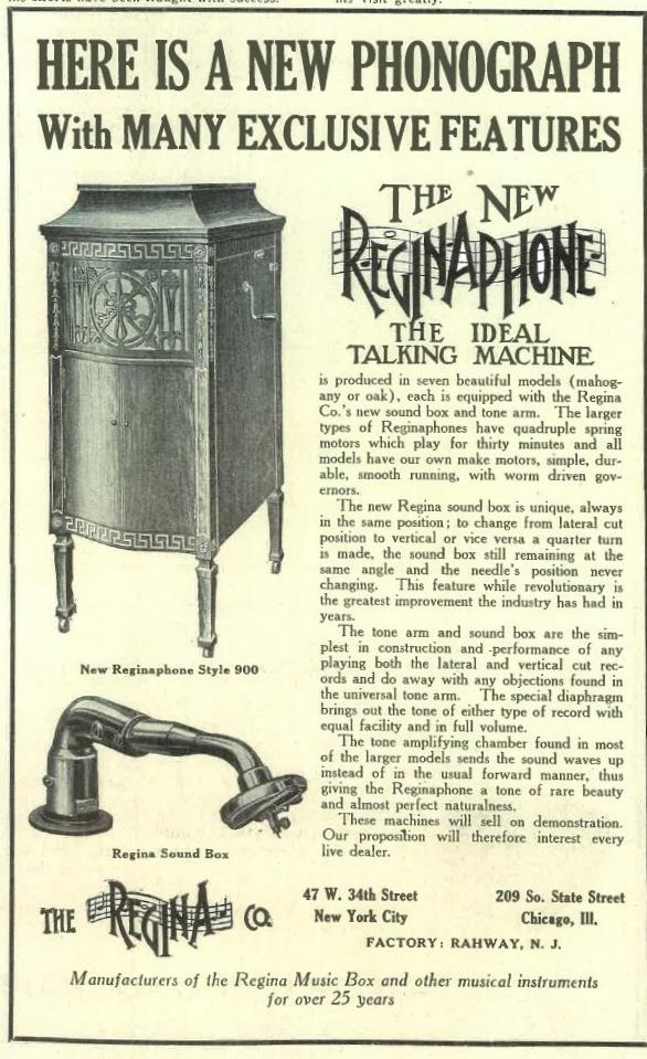Reginaphone March 1918