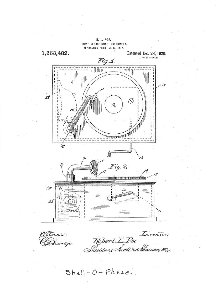 Shell-O-Phone patent