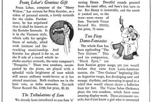 Victor Record Supplement (ca. 1926)